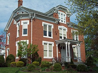 National Register of Historic Places listings in Bedford County, Pennsylvania - Image: Barclay House Bedford PA Apr 10