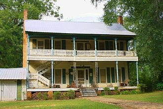 Marengo County, Alabama - Barney's Upper Place, an I-house in Putnam that was built in 1833.
