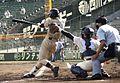 Batting High school baseball in Japan 2007.jpg