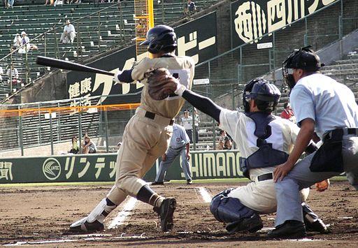 Batting High school baseball in Japan 2007