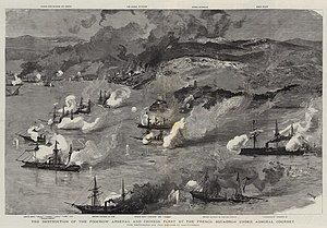 Battle of Fuzhou - The Battle of Fuzhou, 23 August 1884 (19th century painting)