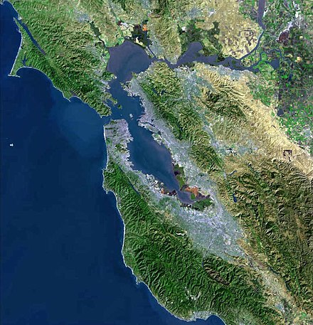 Satellite map of the San Francisco Bay Area from the U.S. Geological Survey BayareaUSGS.jpg