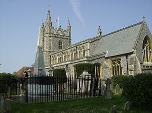 Beaconsfield - St Mary and All Saints Church, Beaconsfield and the tomb of Edmund Waller