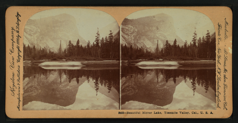 Beautiful Mirror Lake, Yosemite Valley, Cal. U.S.A, by Singley, B. L. (Benjamin Lloyd) 8.png