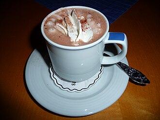 Hot chocolate - Image: Becher Kakao mit Sahnehäubchen