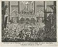 Beeldenstorm in de Onze-Lieve-Vrouwekathedraal te Antwerpen, 1566 Sacrileges que les Heretiques ont commis contre les images des saints dans l'Eglise Cathedrale d'Anvers, le 21 Aoust 1566 (titel op object), RP-P-OB-78.937.jpg