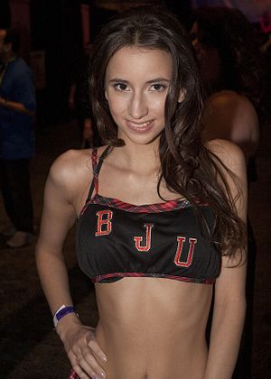 Belle Knox - Knox at Exxxotica Atlantic City on April 12, 2014