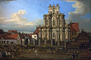 Visitationist Church - Visitationist Church in 1780 by Bernardo Bellotto.
