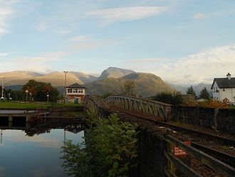 Fort William, Highland - Ben Nevis viewed from Neptune's Staircase