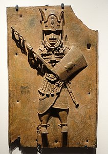 Benin plaque in the Ethnological Museum, Berlin - 069.JPG