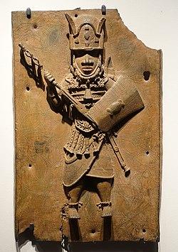 Benin plaque in the Ethnological Museum, Berlin - 069.JPG