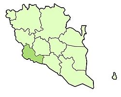 Location of Bentong District in Pahang