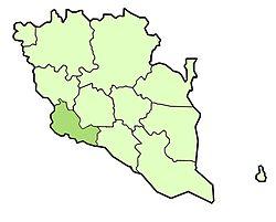 Vị trí của Huyện Bentong