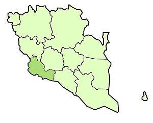 Bentong District - Image: Bentong district highlighted