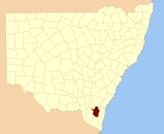 Beresford County - Location in New South Wales
