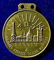 Berlin 1949 FDJ (Free German Youth) Peace Convention Participants Medal, reverse.jpg