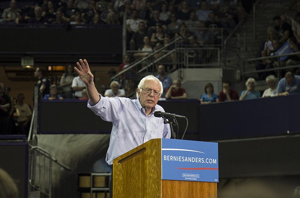 Bernie Sanders speaking at the Hec Edmundson Pavilion in Seattle on August 8, 2015 (20443202111)