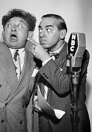 "Eddie Cantor - Cantor (right) with Bert Gordon, aka ""the Mad Russian""."