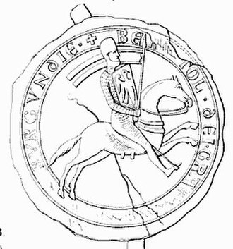 House of Zähringen - Equestrian seal of Berthold V, dated 1187.