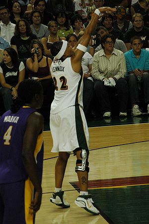 Betty Lennox - Lennox as a member of the Seattle Storm.