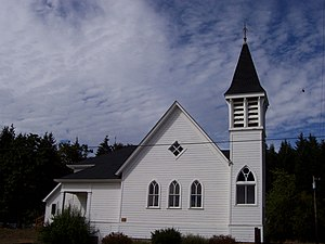 National Register of Historic Places listings in Polk County, Oregon - Image: Beulah Methodist Episcopal Church Falls City