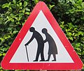 Beware of crossing people sign (North Cyprus).JPG
