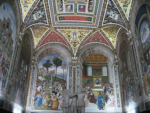 Libreria Piccolomini, affrescatadaPinturicchio, Siena, Duomo