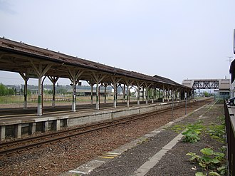 Bihoro Station - The station platforms in May 2009