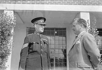 Billy Butlin - Billy Butlin, and Sergeant John Caffrey, VC, one of the Commissionaires at Filey Holiday Camp