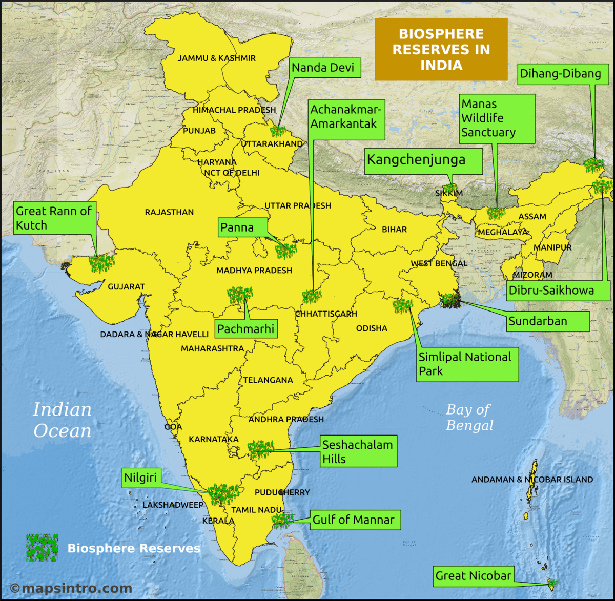 File:Biosphere Reserves in India.png - Wikimedia Commons