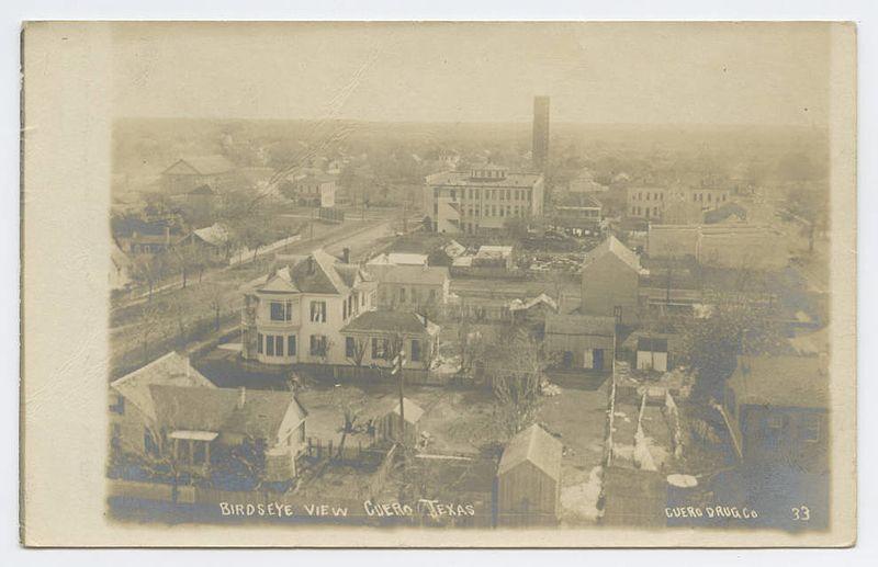 File:Birdseye View, Cuero, Texas (26322543632).jpg