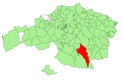 Location of Dima in Biscay.