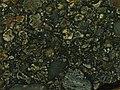 Black Onaping impact breccia (1.85 Ga, Paleoproterozoic; Sudbury Impact Structure, Ontario, Canada) (14610075467).jpg