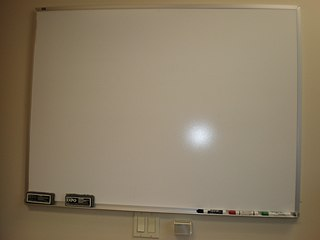 Whiteboard surface for nonpermanent markings