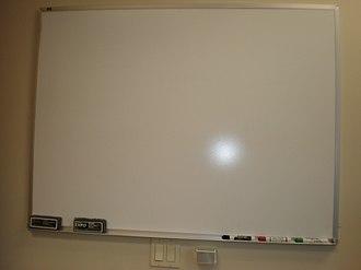 Whiteboard - A blank whiteboard