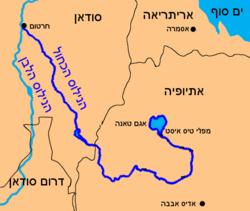 מסלול זרימת הנילוס הכחול