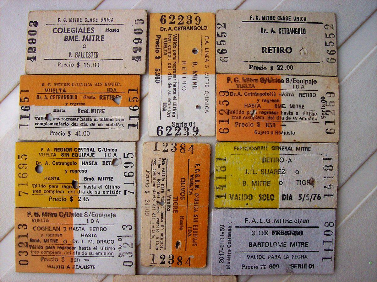 edmondson railway ticket