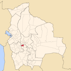 Location of the Alonso de Ibáñez Province within Bolivia