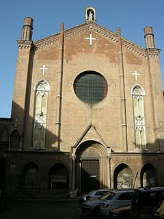 Basilica of San Giacomo Maggiore historic church and monastery in Bologna, Italy