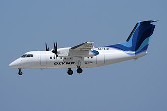 Olympic Air - Olympic Air Bombardier Dash 8-103 in an Austrojet-hybrid livery