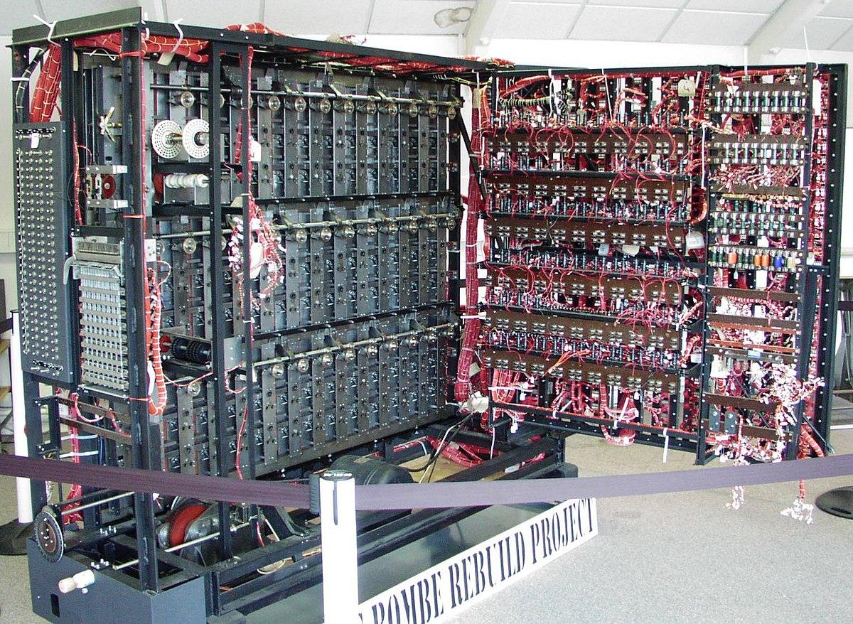 ブレッチリー・パークに展示されているチューリングマシン
