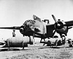 Bombing up SAAF Boston Libya June 1942 AWM MED0450.jpg