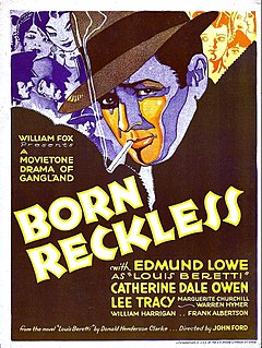 <i>Born Reckless</i> (1930 film) 1930 film