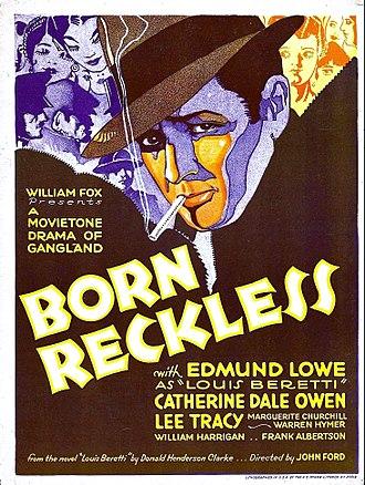 Born Reckless (1930 film) - Film poster