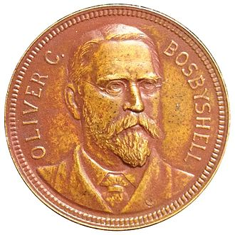Barber coinage - Philadelphia Mint Superintendent Oliver Bosbyshell.  Medal by Assistant Engraver George T. Morgan.