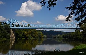 Boston Bridge - Photo of the Boston Bridge, McKeesport Pa taken by Matthew Zilic Sept 2014