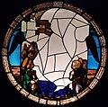Bottega di giacomo e domenico cabrini su disegno di francesco del cossa, vetrata con madonna col bambino e angeli, da s.m. dei miracoli.JPG