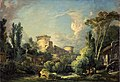 Boucher - Landscape with Castle and Mill, circa 1765.jpg