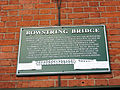 Bowstring Bridge Memorial Plaque Sep 2010.jpg