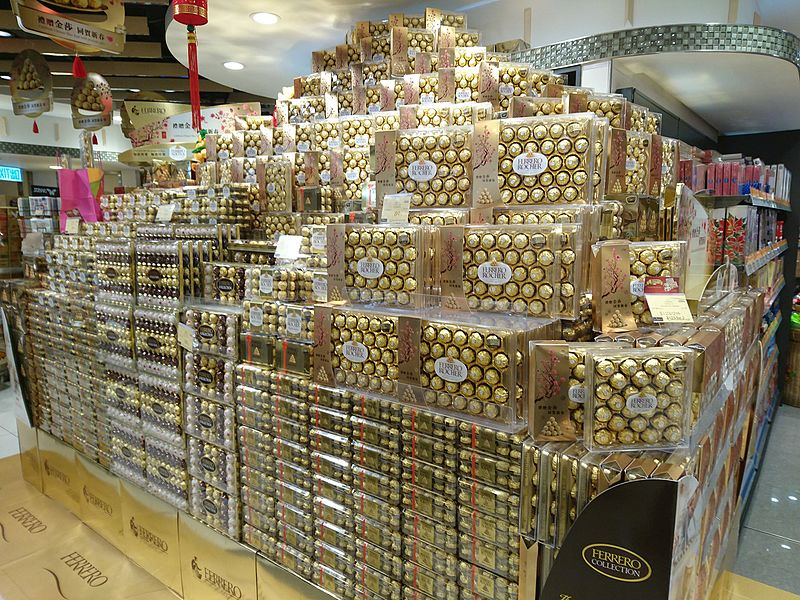 File:Boxes of Ferrero Chocolate in Supermarket.JPG